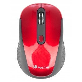 Wireless Optical Mouse, 3 Buttons, NGS 2.4Ghz, NGS Haze Red
