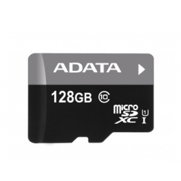AData Turbo microSDXC UHS-1 CL10 Memory Card width SD adapter 128GB