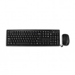 V7 CKW100 USB Wireless QWERTY Black Keyboard and Mouse Combo - UK Layout